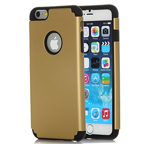 iPhone 6S Case, KAMII - Heavy Duty Hybrid High Impact Dual Layer Armor Defender Shockproof Case for Apple iPhone 6/6s 4.7 inch 2-Piece Style Hybrid Hard Cover