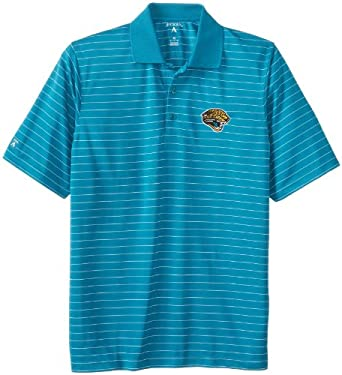 NFL Men's Jacksonville Jaguars Elevate Desert Dry Polo Shirt (Teal/White, Large)