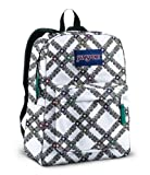 JanSport Superbreak School Backpack (White/Multi Js Plaid)