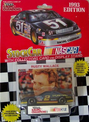 1993 NASCAR Racing Champions . . . Rusty Wallace #2 Mobil 1 Pontiac Grand Prix 1/64 Diecast Includes Collector's Card and Display Stand - 1