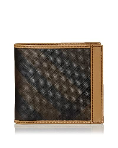 Burberry Men's Tonal Plaid Wallet, Brown