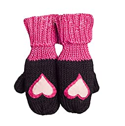 Zooni By Melondipity Angel Heart Girl Mittens (3 - 5 Years)