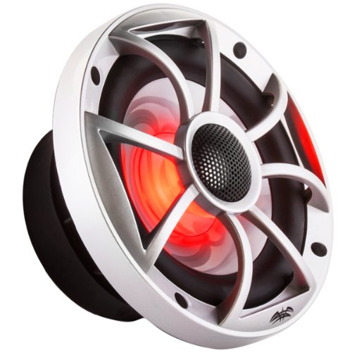 "Wet Sounds Xs-650 Series 6.5"" Silver Cone Marine Coaxial Speaker - With Rgb Led Lights!"
