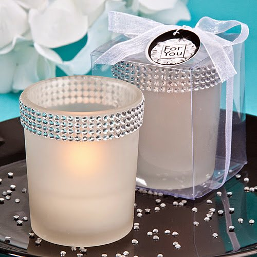 100 Bling Collection White Candle Holders