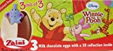 2 Boxes (6 Eggs) Disney Winnie the Pooh Chocolate Surprise inside, Free Gift