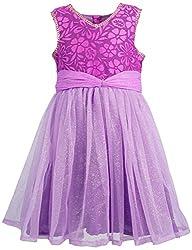Euphoria Girls' A-line Frock (315F_3-4 Years, Purple, 3-4 Years)