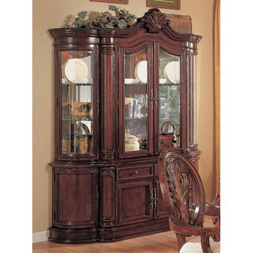Cheap Master Buffet/Hutch in Cherry Finish by Coaster Furniture (B007B70G1I)