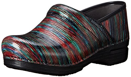 Dansko Women's Pro XP Multi Striped Patent Mule, 39 EU/8.5-9 M US
