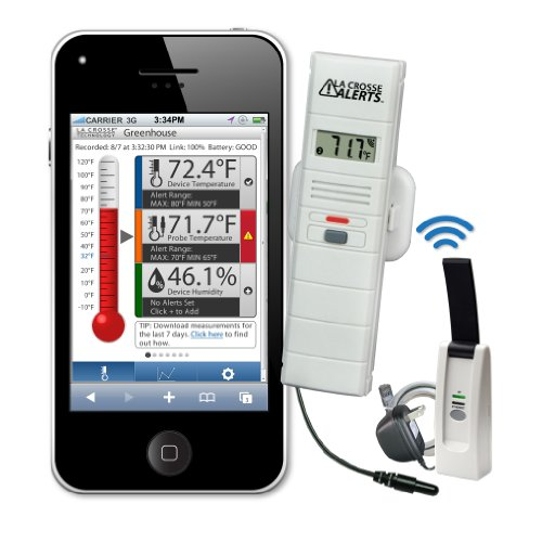 La Crosse Alerts D111.101.E1.Wgb Wireless Monitor System Set With Dry Probe