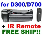 Vertical Battery Grip+ir Remote for Nikon D300 D700 SLR