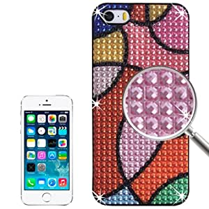 3D Diamond Style Multicolour Round Pattern Plastic Case for iPhone 5 & 5S