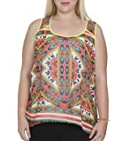 Wet Seal Womens Mixed Border Print Tank