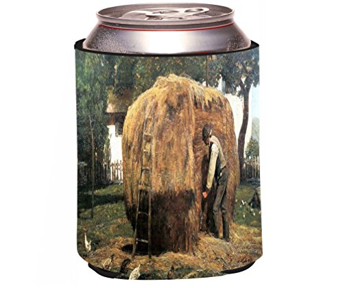Rikki Knight Childe Hassam Art The Barnyard Design Beer Can/Soda Drinks Cooler Koozie