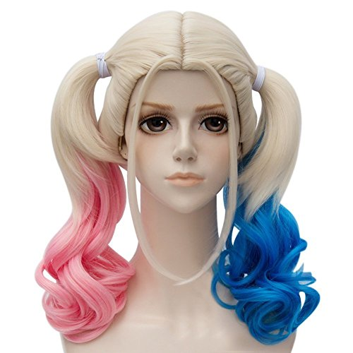 Harley Quinn Cosplay Wig With Ponytails