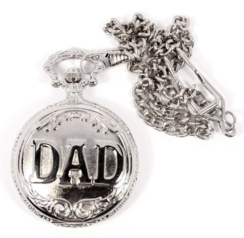 Philip Mercier Dad Pocket Watch and Chain, Comes In Gift Box