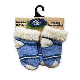 Maggie\'s Functional Organics Wool Socks Blue Toddler 2 pk