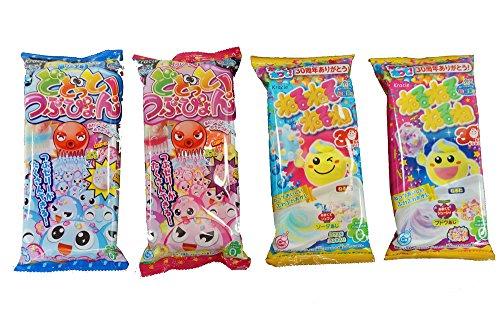 Kracie Dodotto Tsubupyon Soda 0.63 oz + Grape Flavor 0.63 oz DIY Candy Happy Kitchen Kit + Popin' Cookin' DIY Nerunerunerune Candy Paste Soda 0.90 oz + Grape Flavor 0.83 oz (Popin Cookin Grape compare prices)