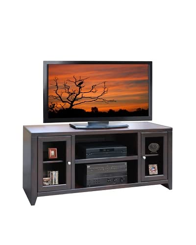 Legends Furniture Brooklyn Loft 60″ TV Console, Brown Cherry