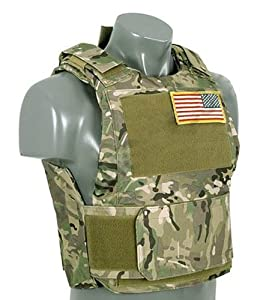 Gilet Veste Tactique Pare Balle Bille Camouflage Multi Camo M51611014-cp Airsoft