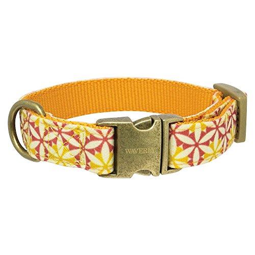 waverly-fashion-canvas-dog-collar-tan-xsmall