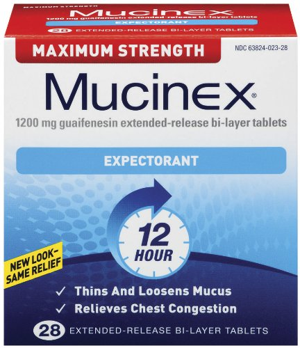 Mucinex Max Strength Expectorant Bi-Layer Tablets, 28-Count