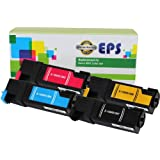 EPS Compatible Xerox Phaser 6500 High Yield Toner 106R01597, 106R01594, 106R01595, 106R01596 Cartridges Combo - 4pk (BCMY)
