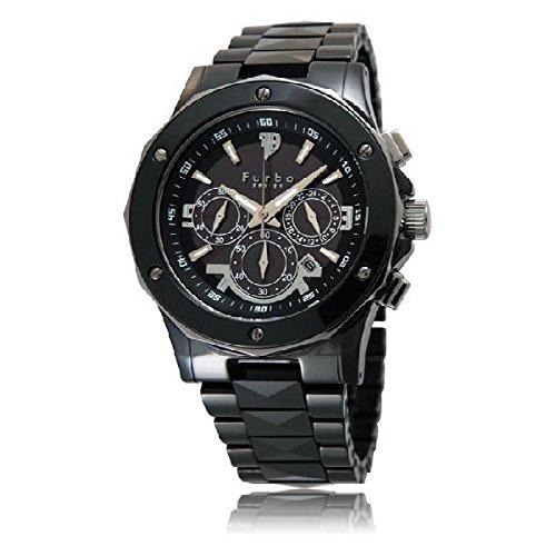 (フルボデザイン)Furbo Design 腕時計 イル・ソーレ ソーラークロノグラフ ブラックダイアル メンズサイズ [並行輸入品]