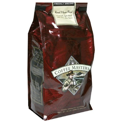 Coffee Masters Gourmet Coffee, Royal House Blend, Ground, 12-Ounce Bags (Pack of 4)