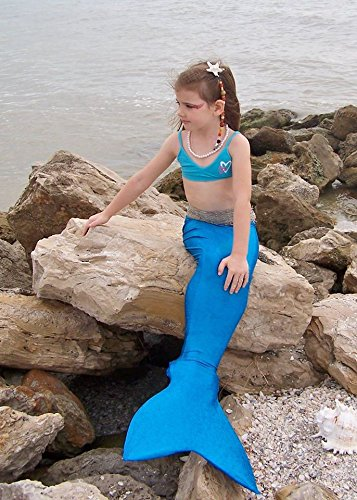 Swimmable Mermaid Tail 5-7yrs Ocean Blue
