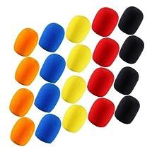 4sets of 5pcs Different Color Long Term Microphone Windscreen Sponge Foam Cover Shield Protection
