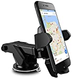 #4: E LV Car Mount, Adjustable Car Phone Holder Universal Long Arm/Neck 360°Rotation with Reusable Suction Cup for Dashboard and Windshield for iPhone 7/7Plus/6/6s/6Plus,Samsung,Sony,HTC - Black