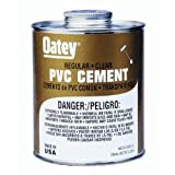 Oatey 31012 PVC Regular Cement, Clear, 4-Ounce