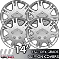 1999-2003 Mitsubishi Galant 14 Inch Silver Metallic Clip-On Hubcap Covers