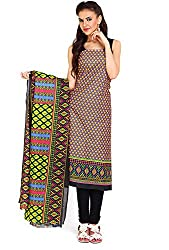 Parchayee Women's Cotton Dress Material (Printed_Multi_Free Size)