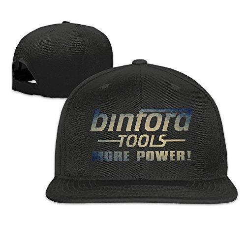 NUBIA More Power Sunbonnet Brim Cap Snapback Flat Bill Hat Black