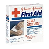 Johnson & Johnson First Aid Gauze Pads (4 x 4-inch), 10-Count Large Pads (Pack of 6)