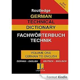 German Technical Dictionary (Volume 1)