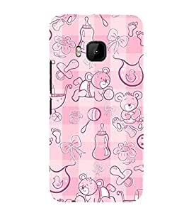 Panda Milk Bottles 3D Hard Polycarbonate Designer Back Case Cover for HTC One M9 :: HTC M9 :: HTC One Hima