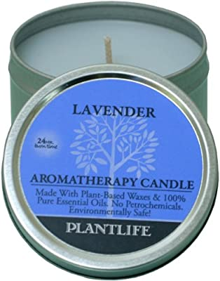 Best Cheap Deal for Plantlife Lavender Aromatherapy Candle-Made with 100% Pure Essential Oils - 3oz Tin by Plantlife - Free 2 Day Shipping Available