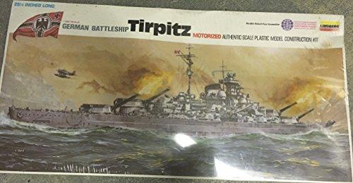 Lindberg German Battleship Motorized Tirpitz 1/350 Model Kit (Motorized Battleship Model compare prices)