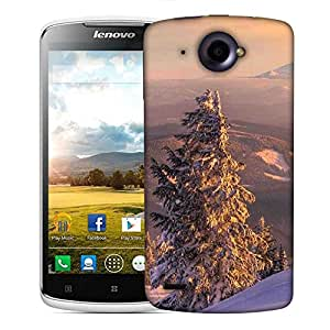 Snoogg Trees With Snow Designer Protective Phone Back Case Cover For Lenovo S920