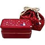 Japanese Traditional Rabbit Moon Bento Box Set, Red