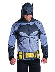 Rubie's Men's Batman V Superman: Dawn Of Justice Batman Costume Hoodie at Gotham City Store