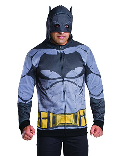 Rubie's Men's Batman V Superman: Dawn Of Justice Batman Costume Hoodie at Gotham City Store