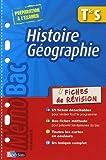 echange, troc Dominique Beaucire, Jean-Louis Humbert, Georges Riggi - Histoire Géographie Te S : Fiches de révision
