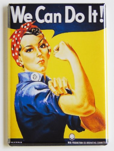 We Can Do It! Fridge Magnet (Can Magnet compare prices)