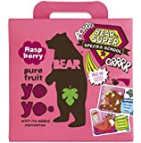 Bear Yoyo 100 Percent Fruit Rolls Raspberry 100 g (Pack of 6)