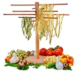 "DB-Tech Wooden Pasta Drying Rack - Six 18"" Dowels for a total 9ft. of drying space"