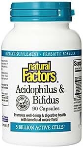 Natural Factors Acidophilus and Bifidus Capsules, 90-Count