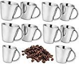 SSSILVERWARE- Stainless Steel Double Wall Heavy Cappuccino Coffee Mug Set - 150ml/ (Set of 10pc)